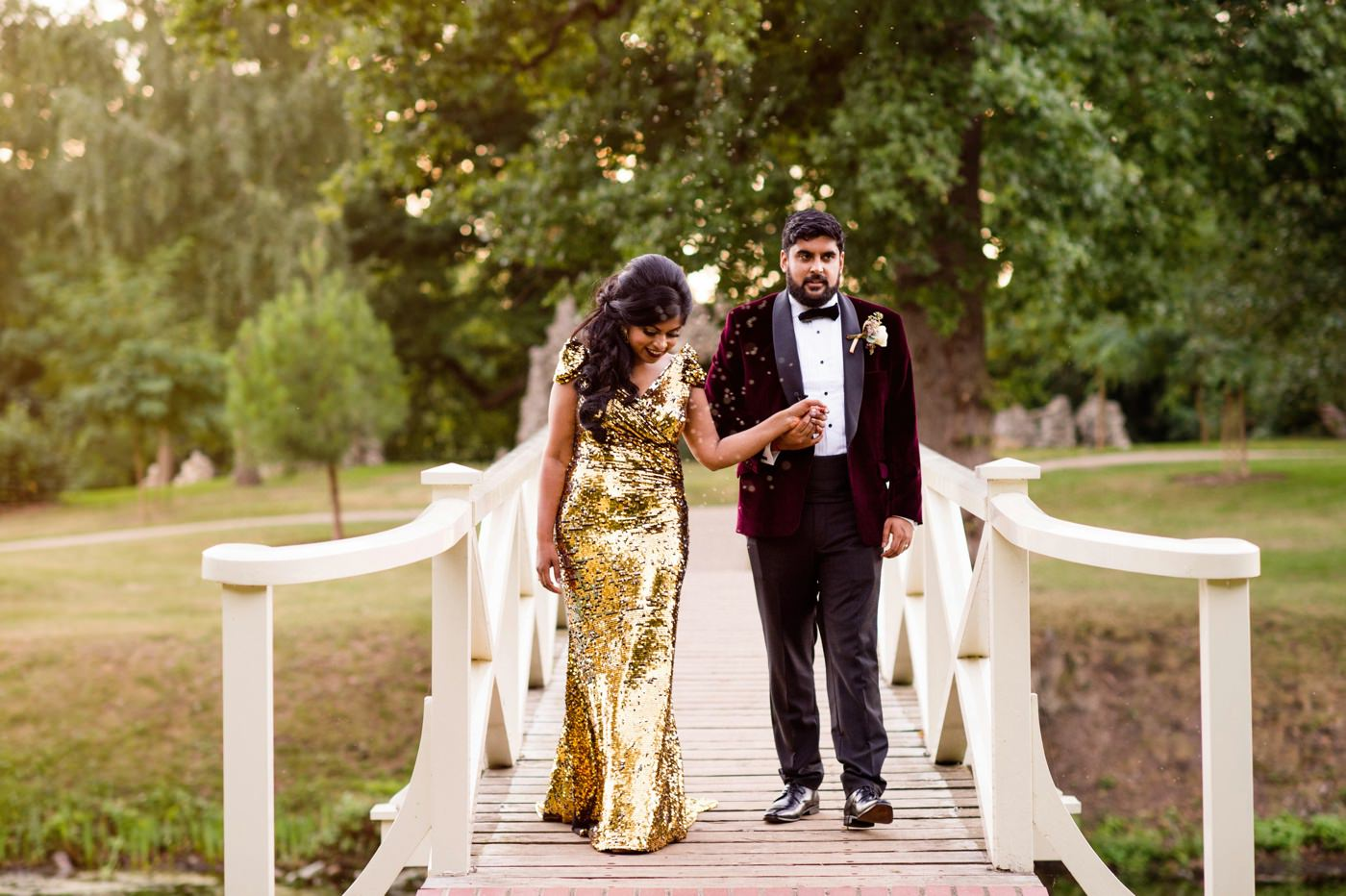 Painshill Park Surrey wedding portrait Babb Photo
