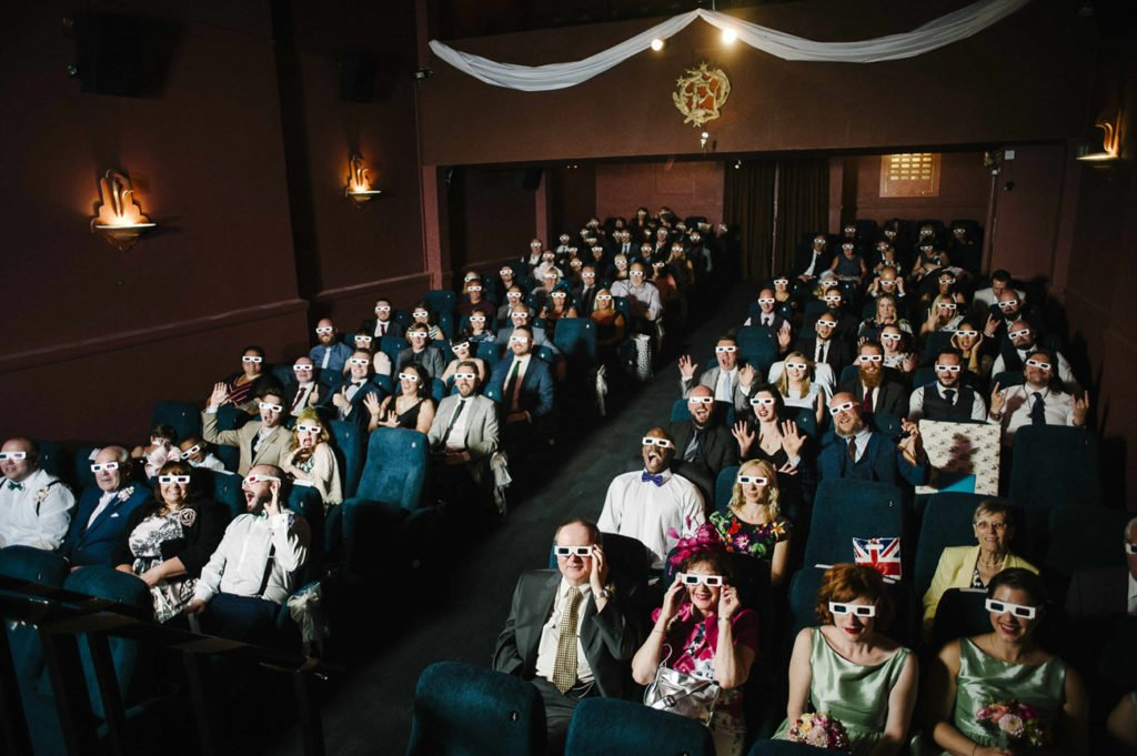 little cinema wedding bath