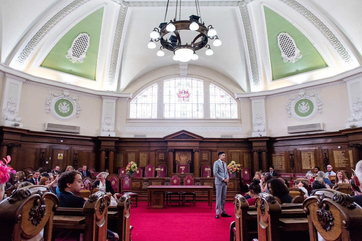 Islington Town Hall wedding ceremony London