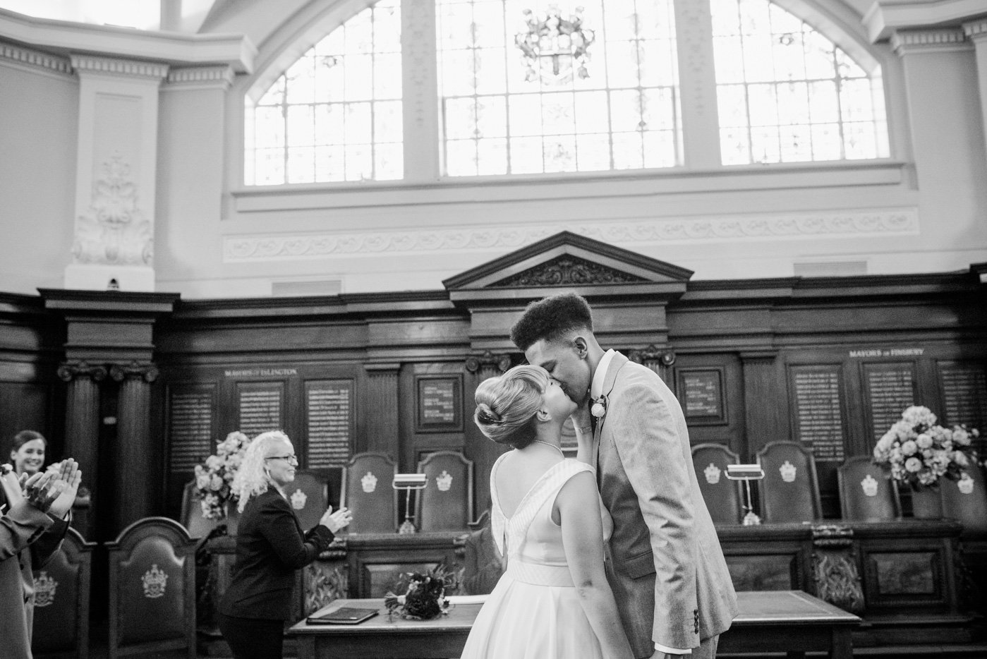 Islington Town Hall wedding portrait London