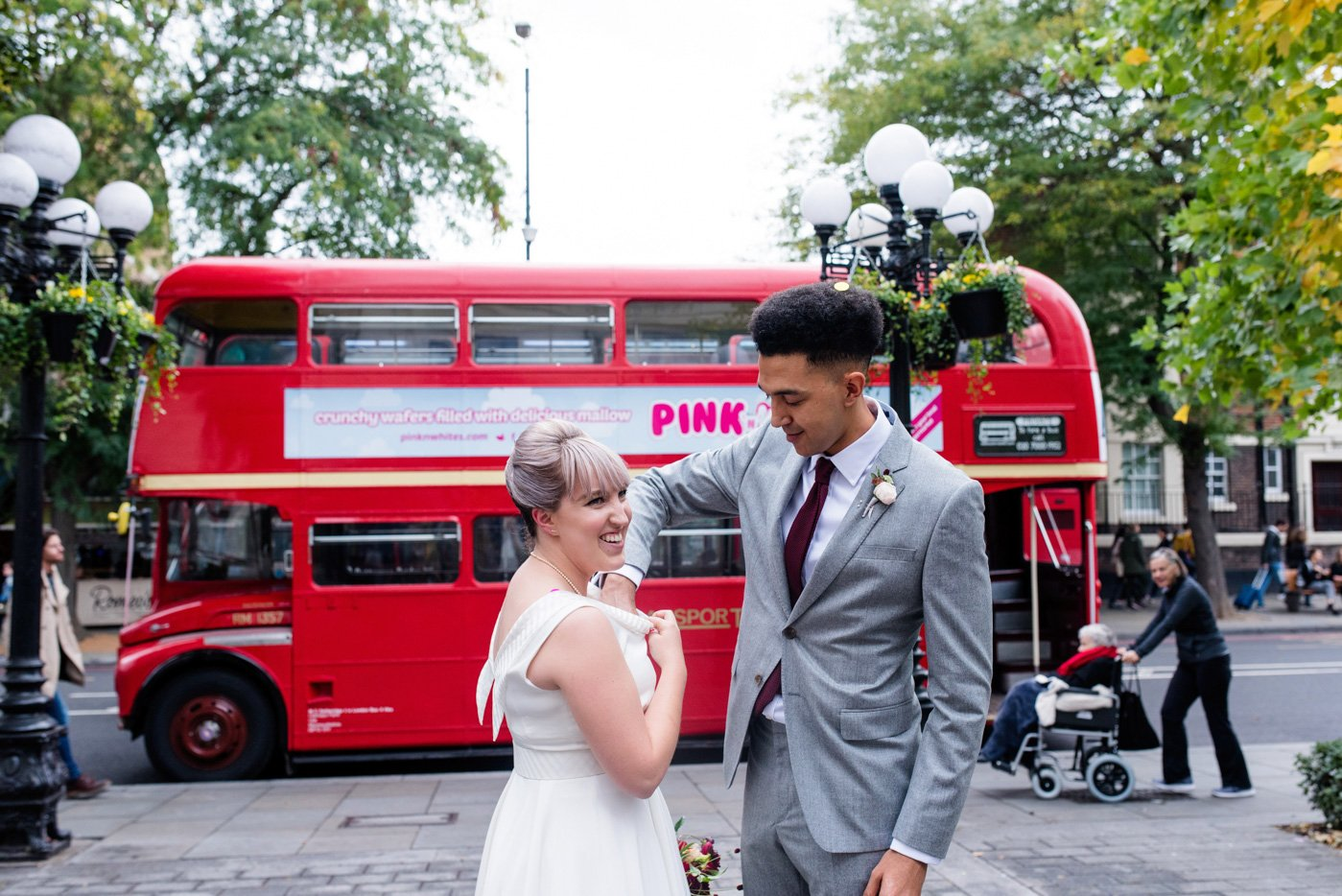 Quirky wedding photography London