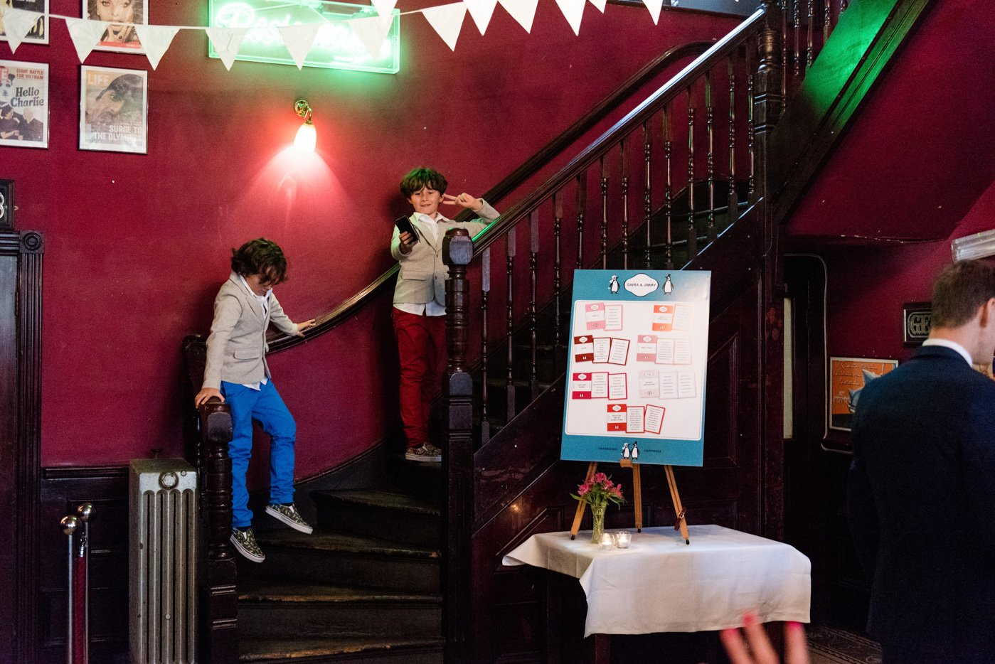 Quirky wedding photography The Peasant pub London