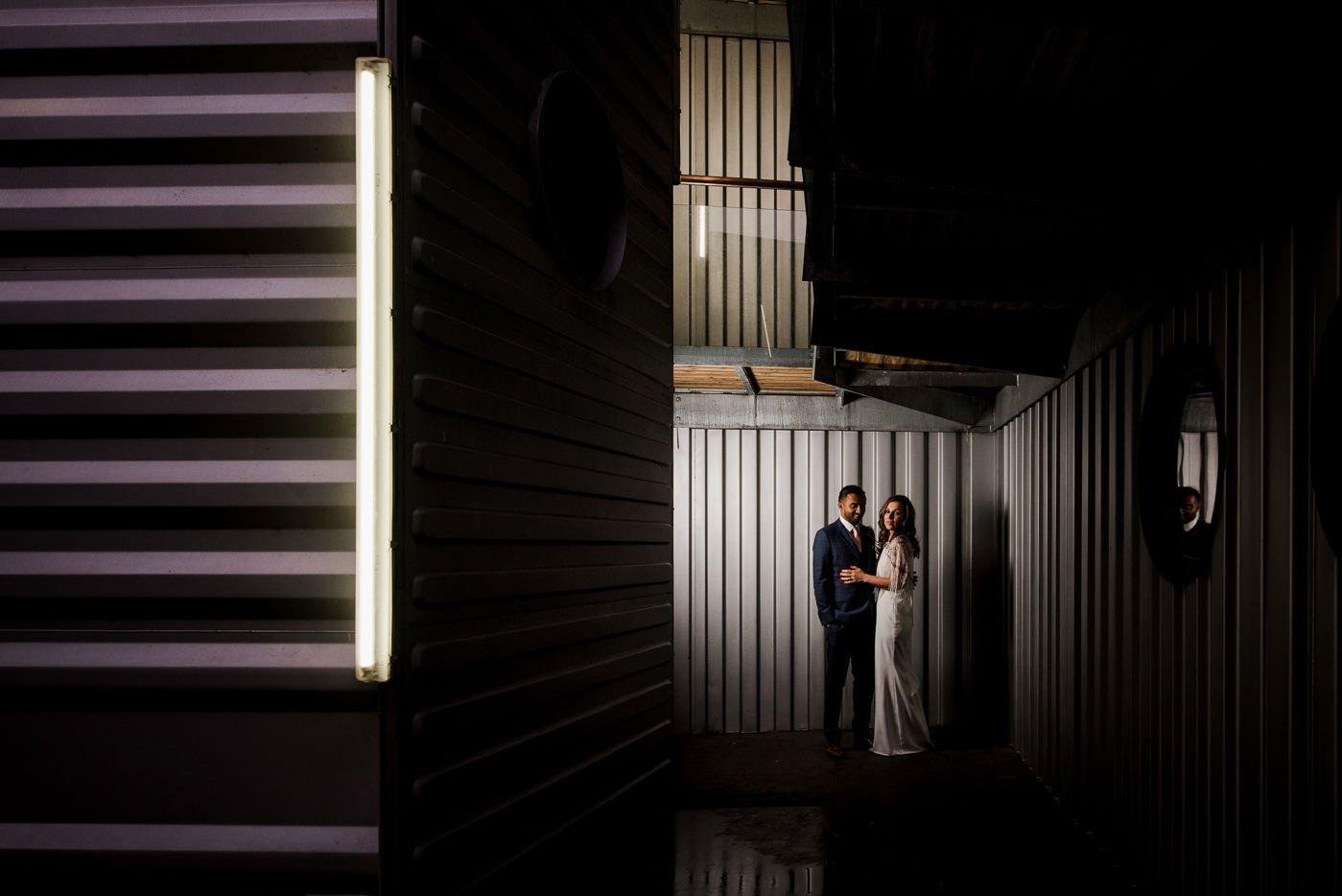 colourful warehouse wedding