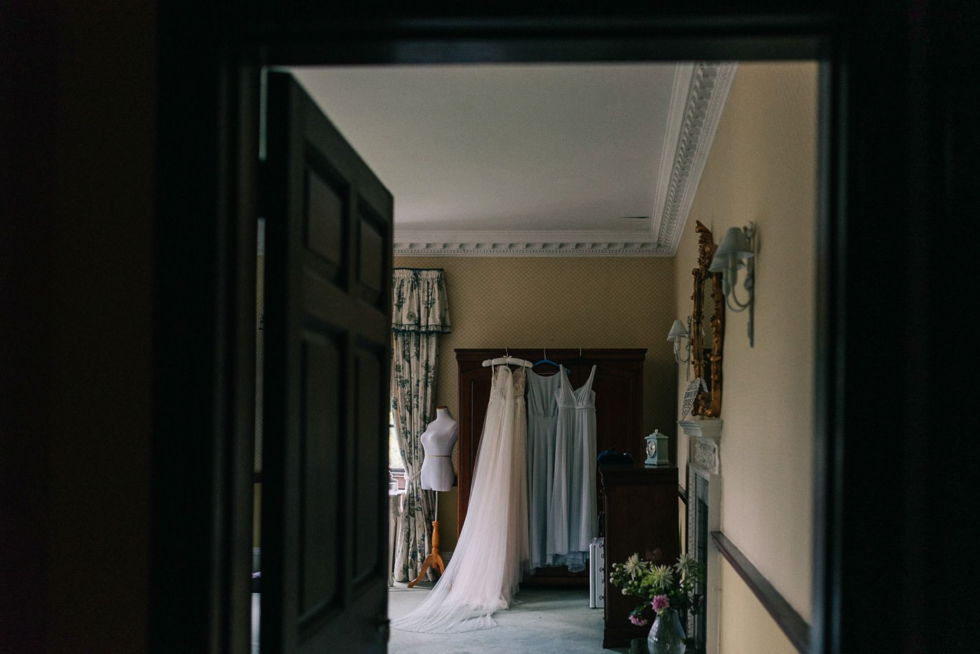 Sprivers Mansion Wedding dresses hanging