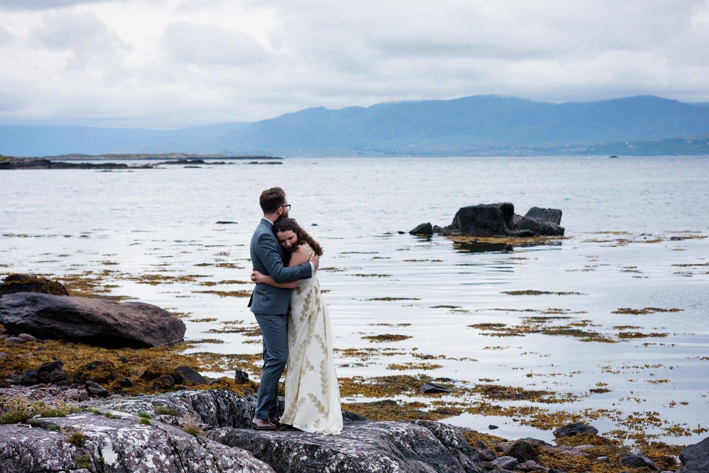 Alternative wedding photographer floral wedding dress