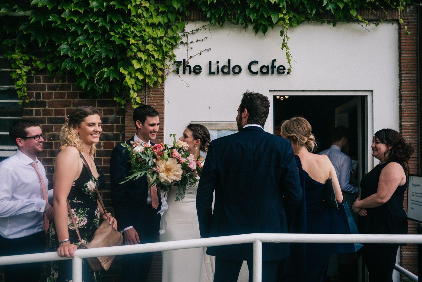Brockwell Lido wedding photographer