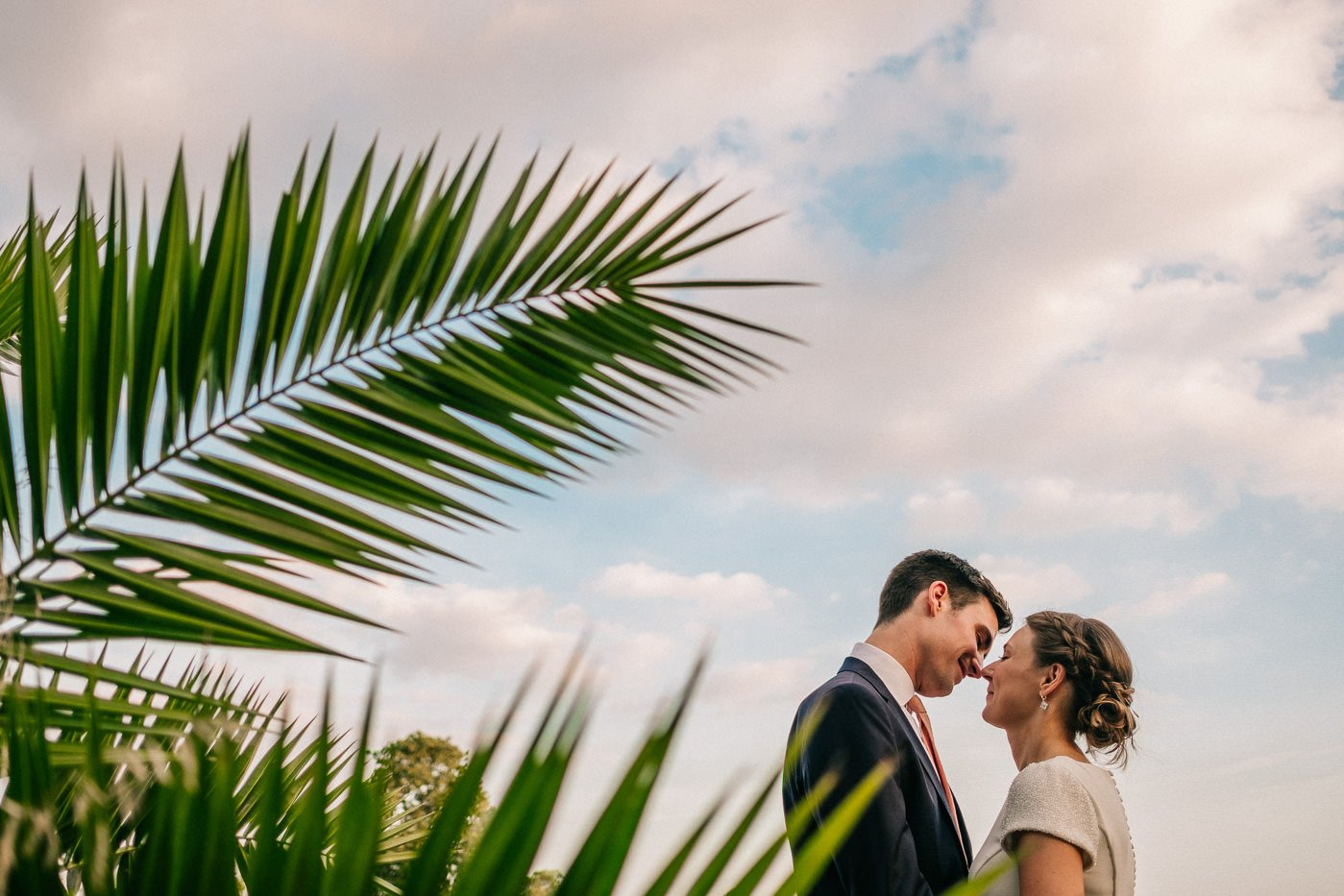 hipster couples portrait brockwell lido wedding photographer