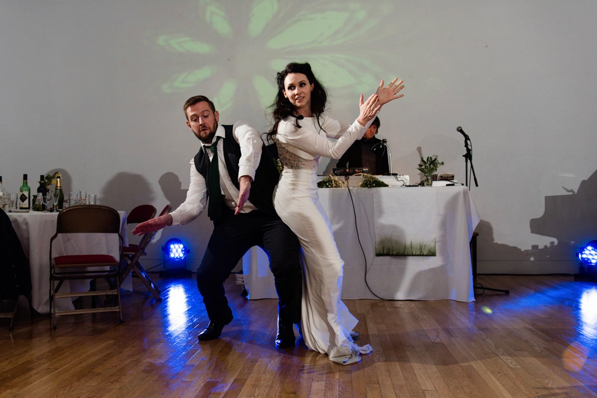 Alternative wedding photographer documentary first dance picture