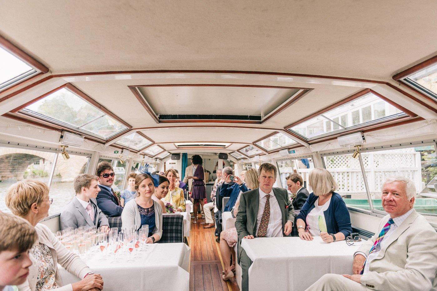river boat wedding transport The Perch Oxford wedding photographer