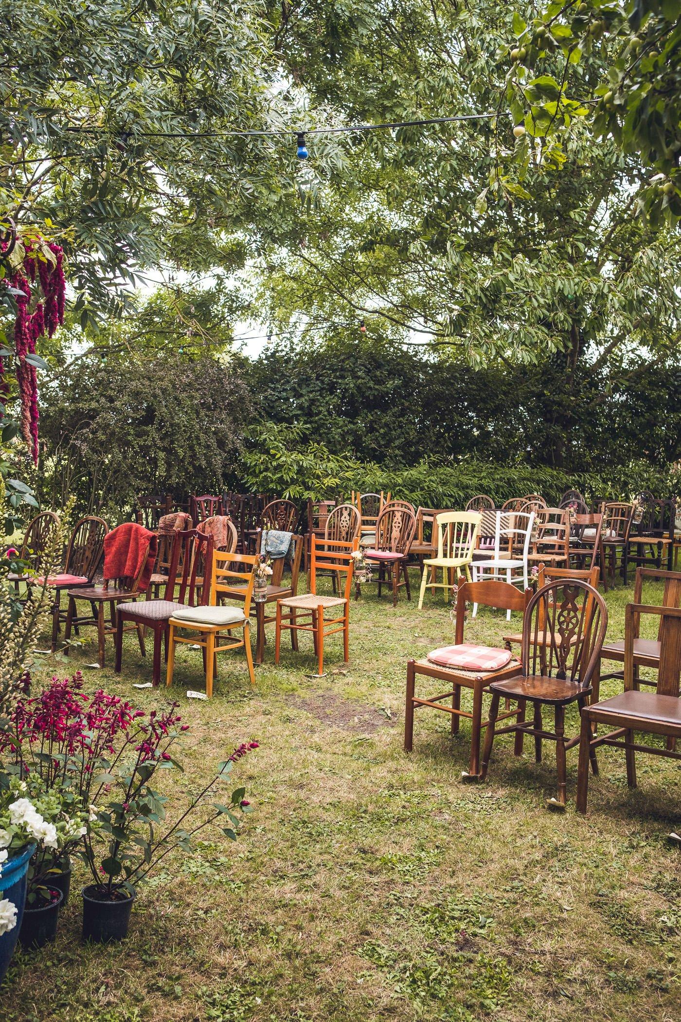 Garden wedding photography UK