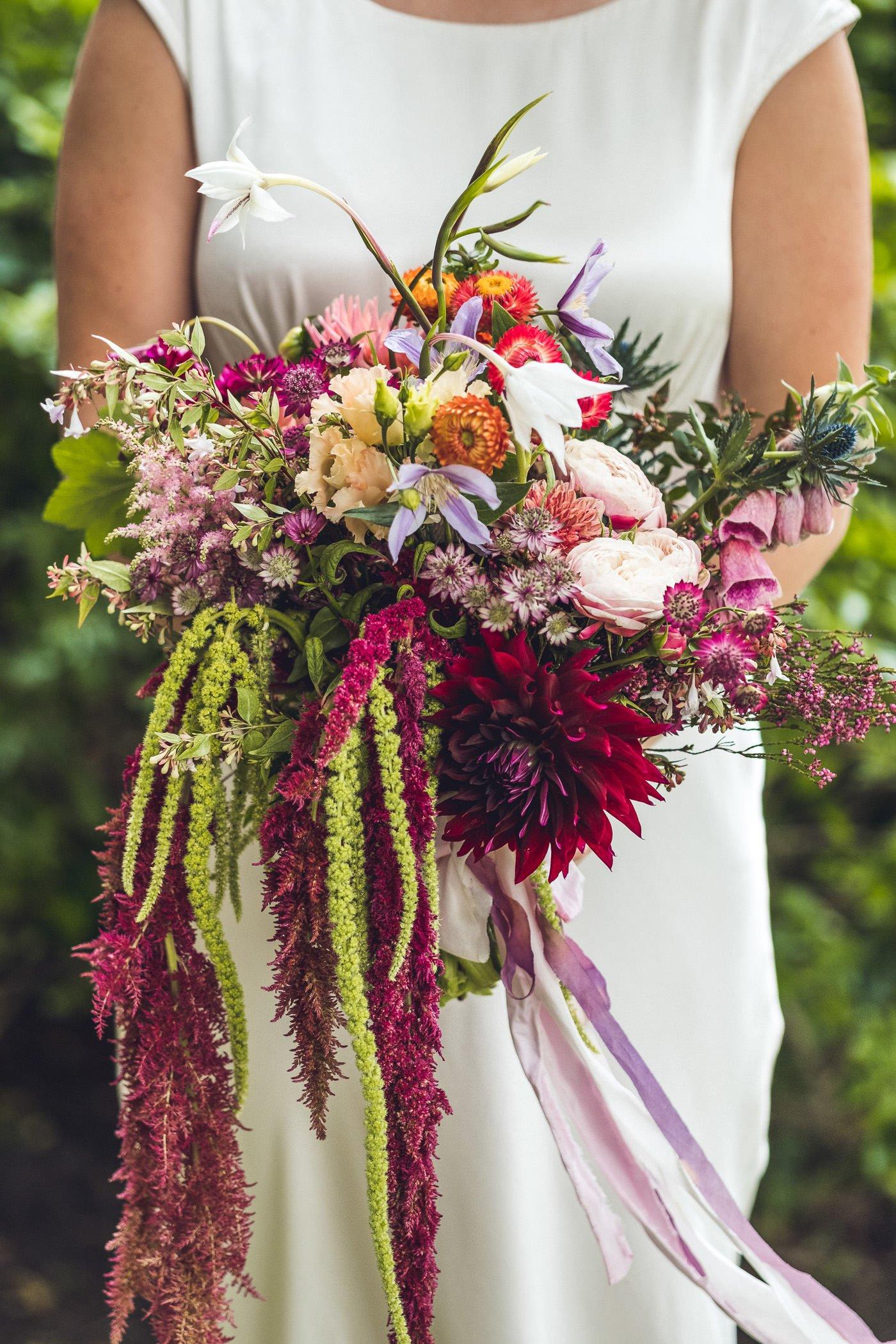 wild flowers back garden wedding