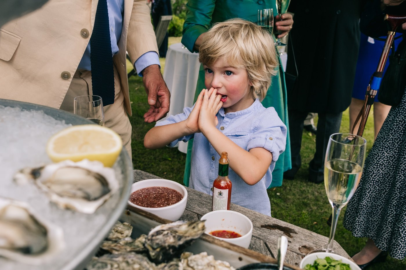 oyster bar cotswolds outdoor wedding