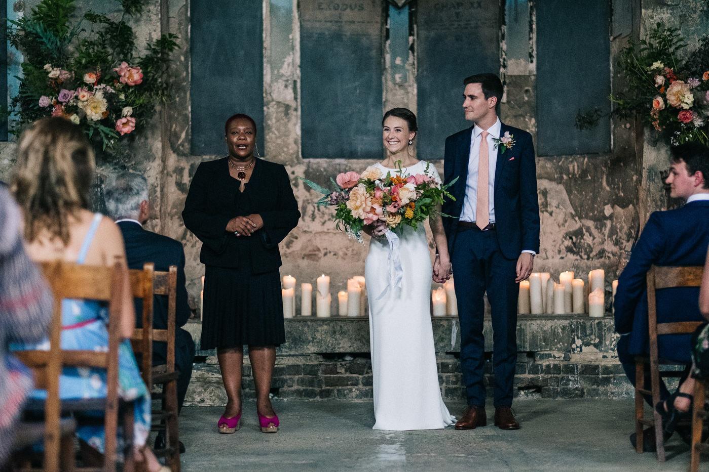 Alternative wedding London civil ceremony