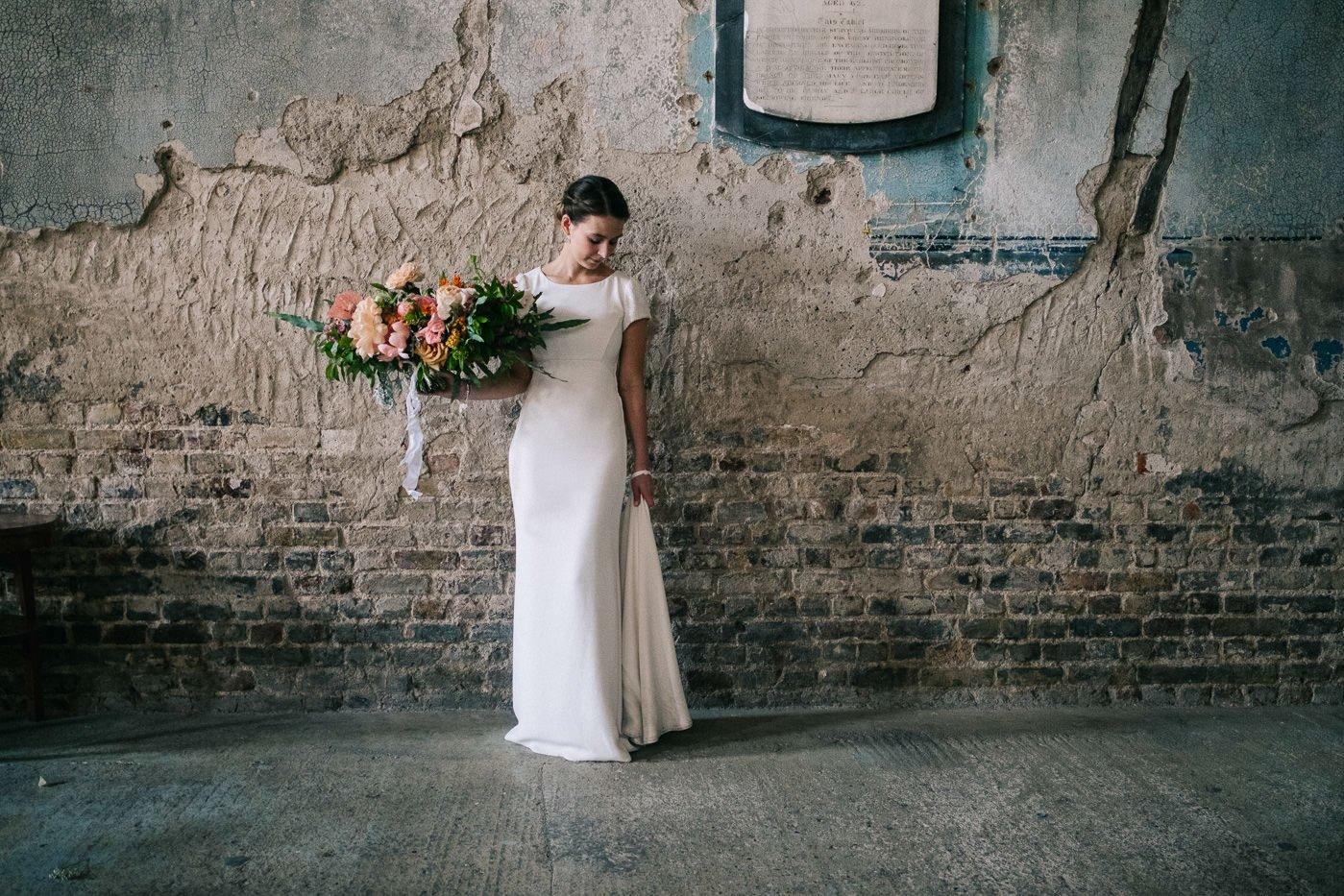 Modern urban bride London wedding photographer
