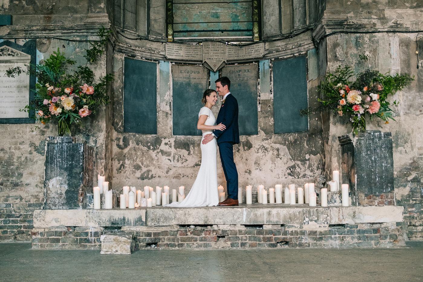 Asylum chapel wedding photography alternative wedding photos