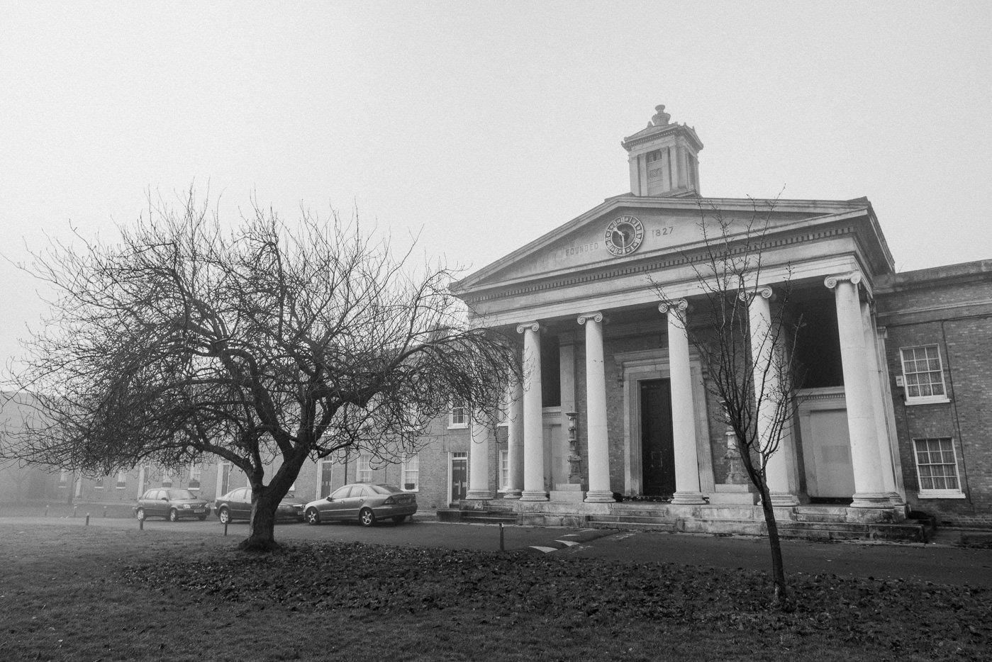 winter wedding Asylum Chapel