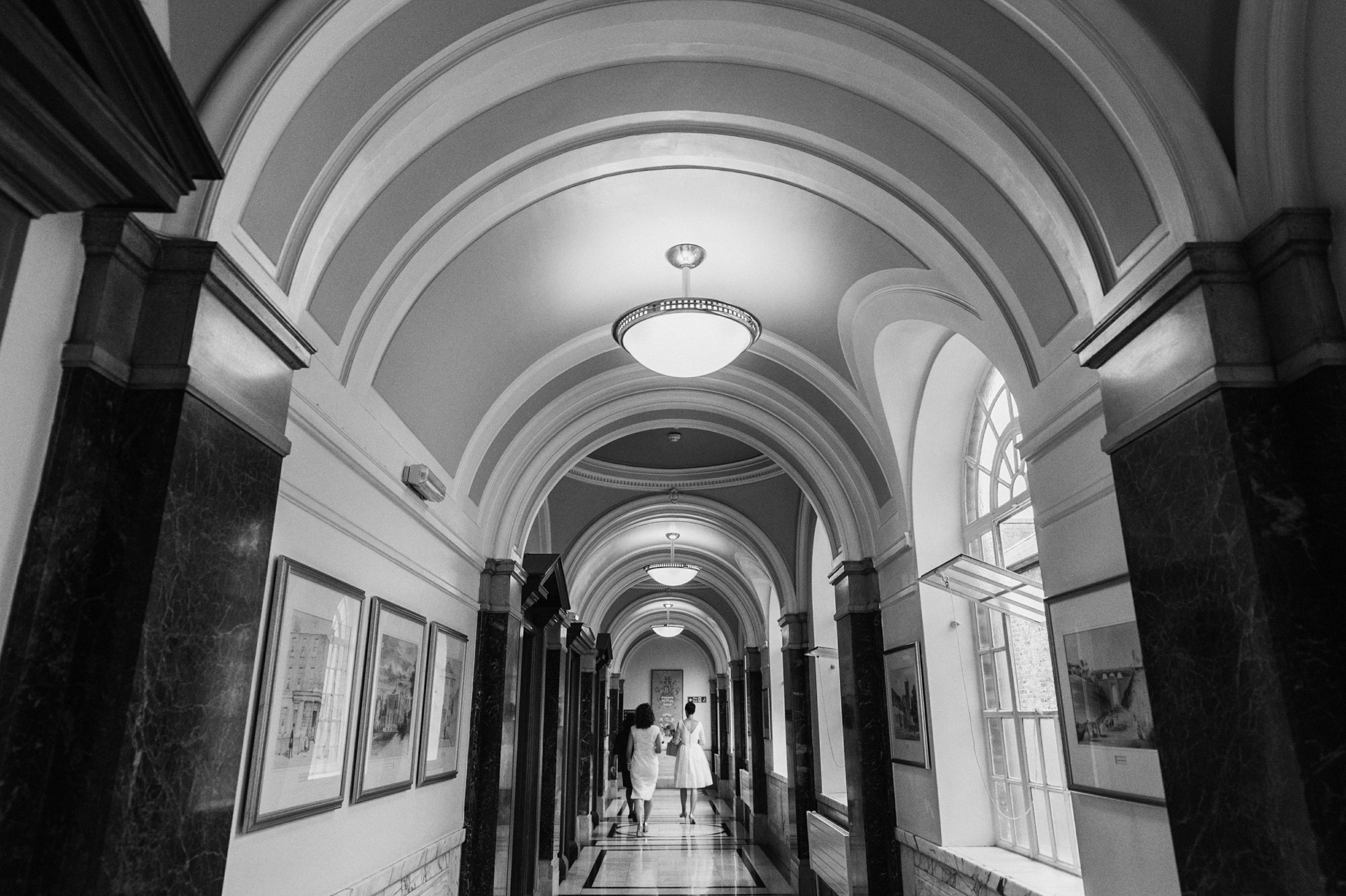 Hallway at The Mayors Parlour - gay wedding The Roost Dalston wedding - quirky London wedding photographer © Babb Photo