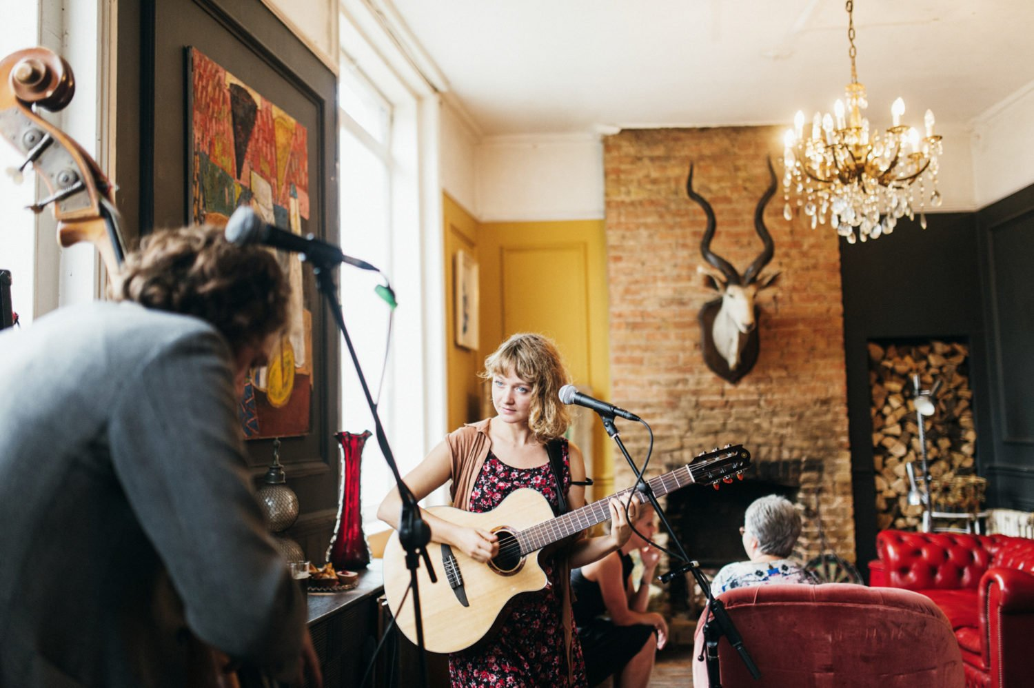 Brooke Sharkey sings live music at same sex wedding the roost wedding photography