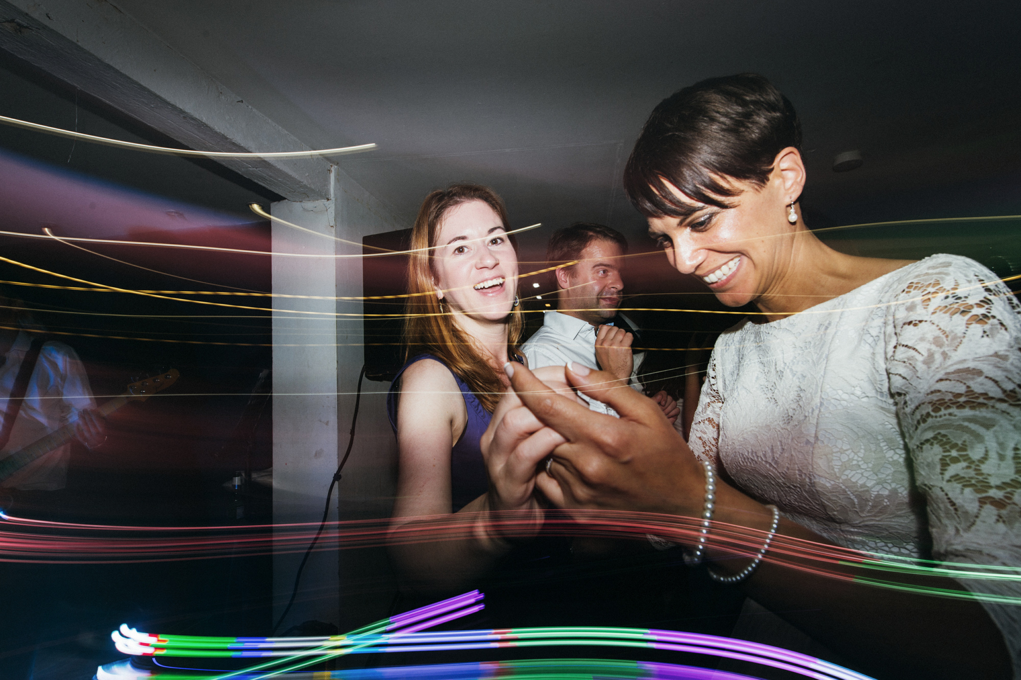 Bride and friends on the dance floor - same sex wedding photography The Roost Dalston London wedding photographer © Babb Photo