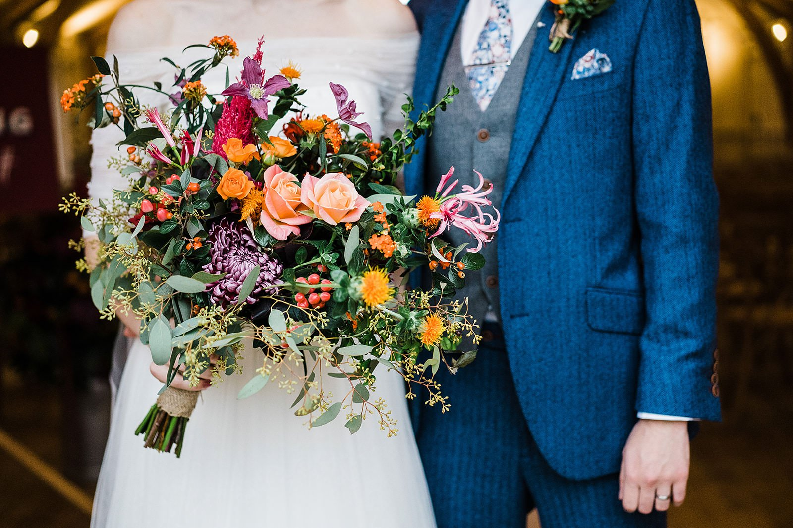 Martin and The Magpie wedding bouquet