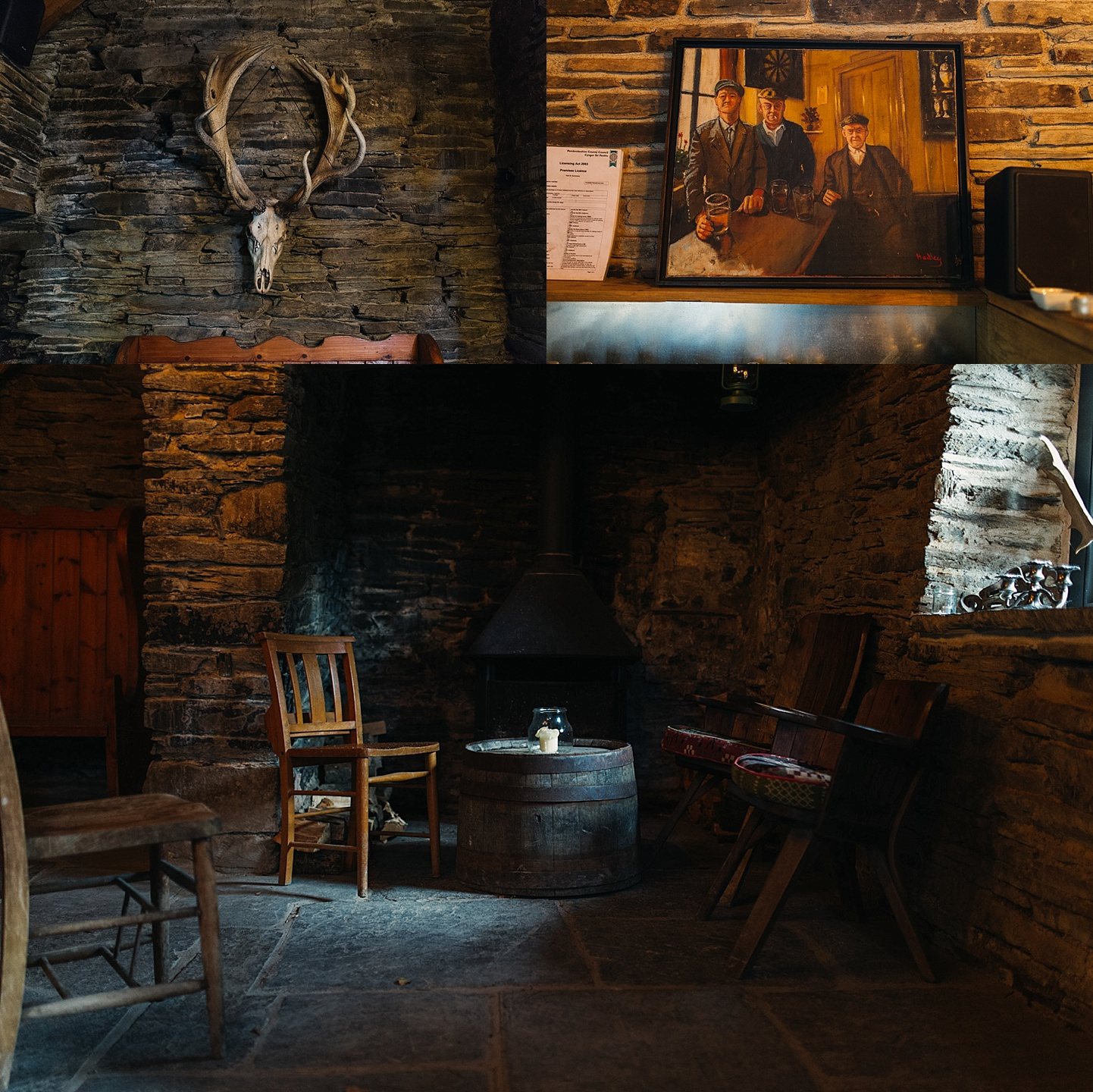 Quirky rustic stone cottage wedding venue in Wales - Fforest wedding photography - Wales alternative wedding photography (c) Babb Photo - alternative wedding photographer
