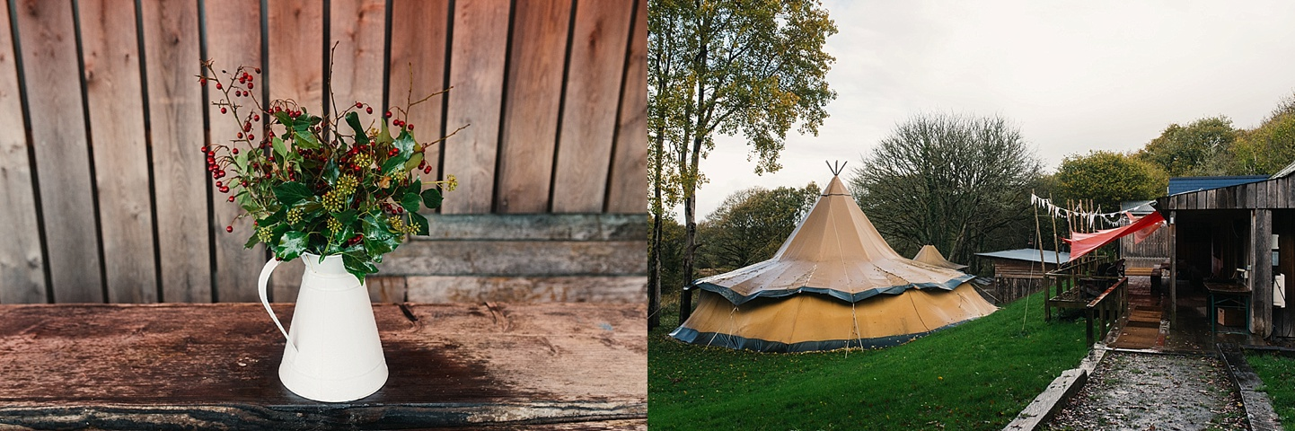 Rustic camping wedding venue - glamping accommodation - Fforest wedding photography - Wales alternative wedding photography (c) Babb Photo - alternative wedding photographer