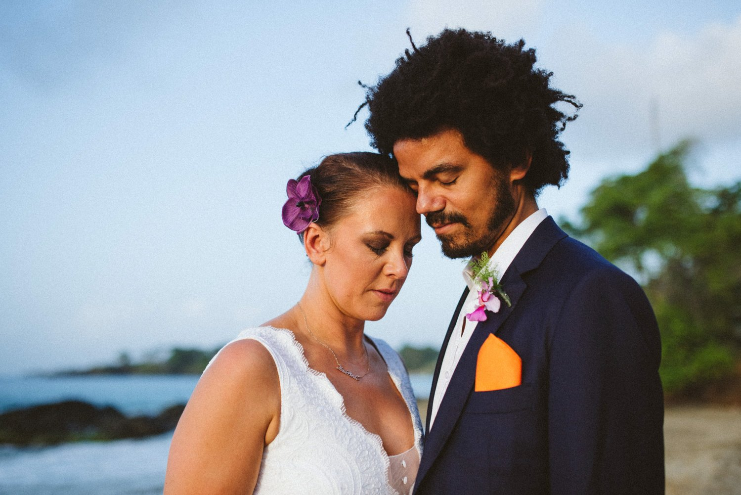 Heartfelt story telling destination wedding photography Tobago