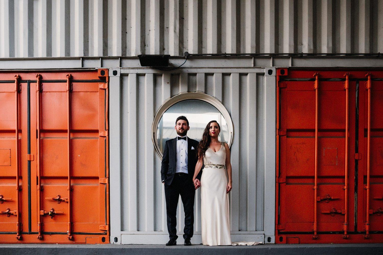 Container City couple portrait