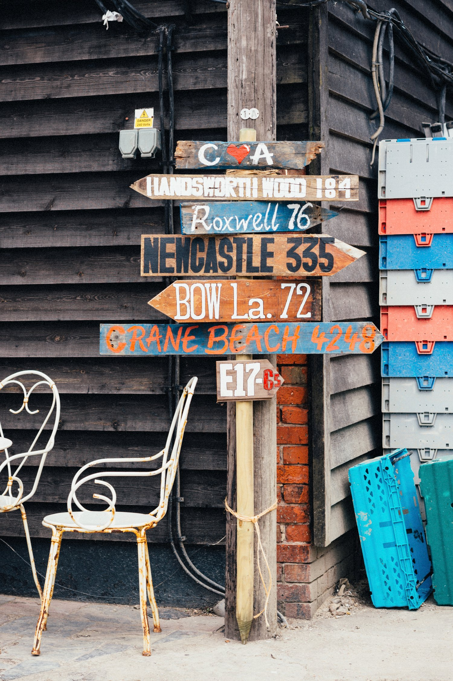 Creative destination sign Whitstable