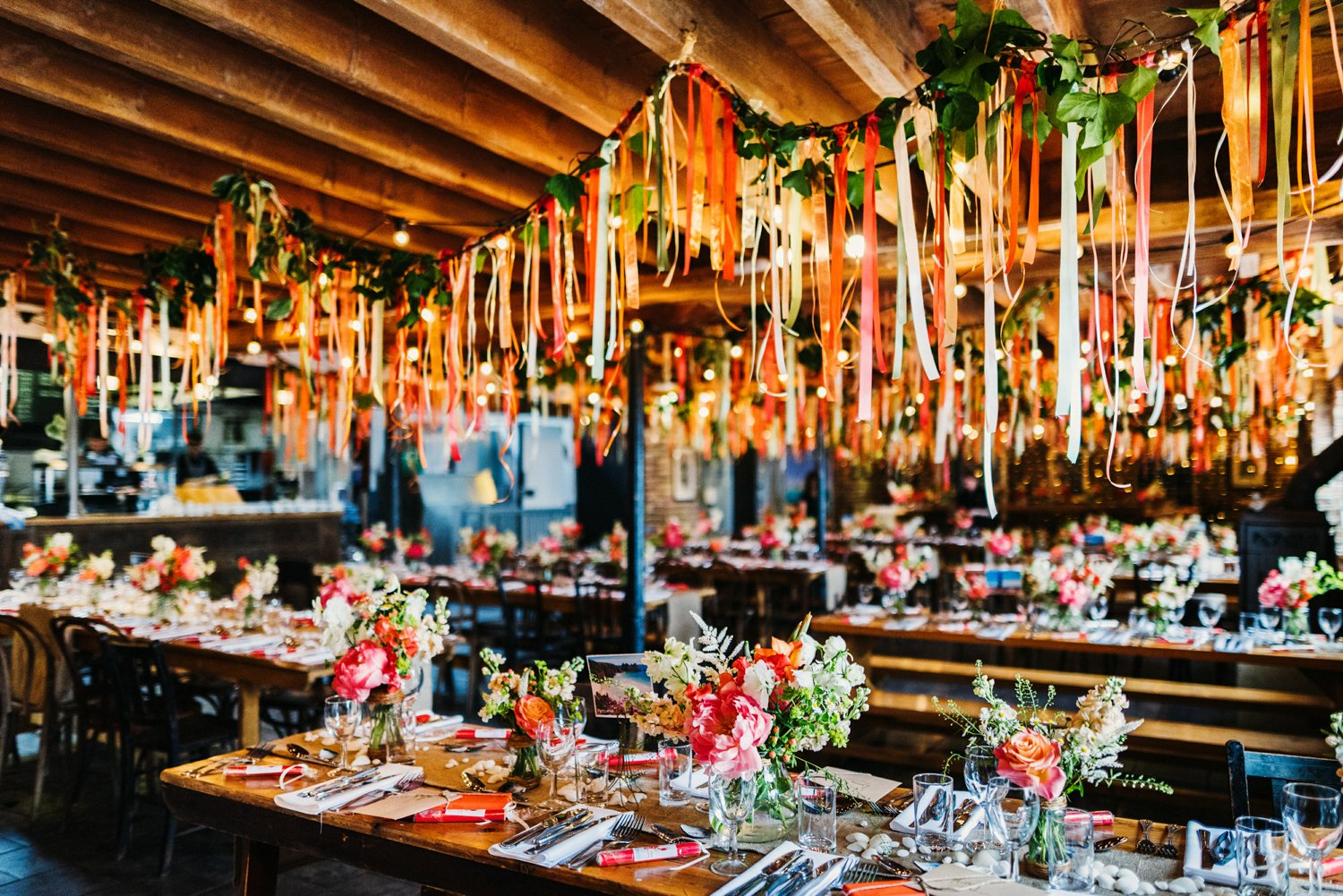 Colourful wedding decorations BABB Photo
