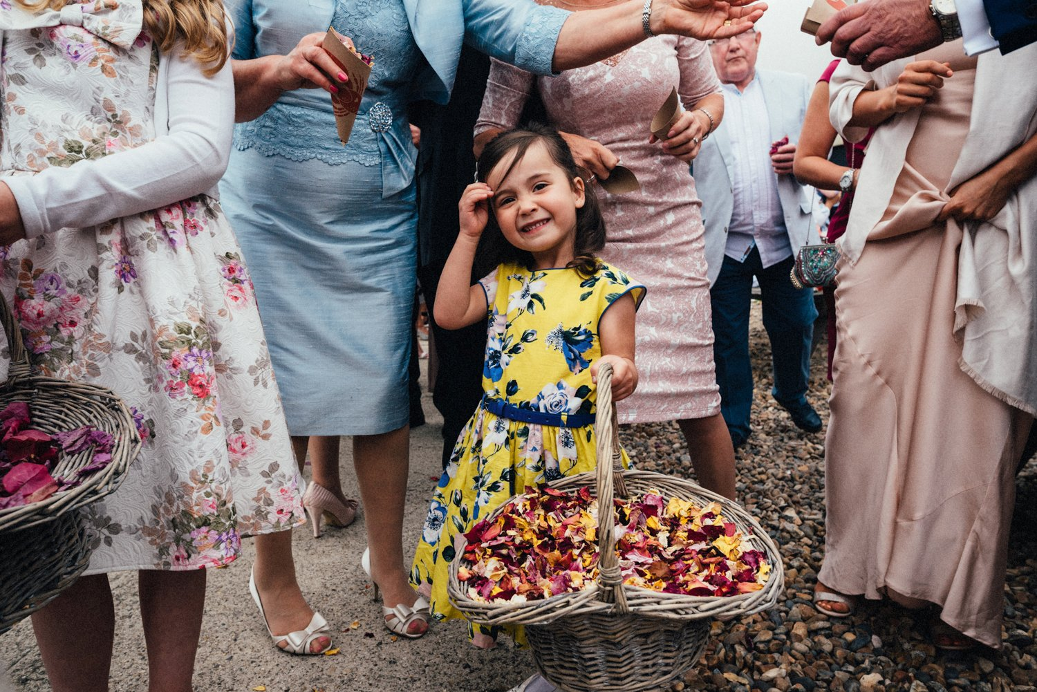 Girl with basket of rose petals BABB