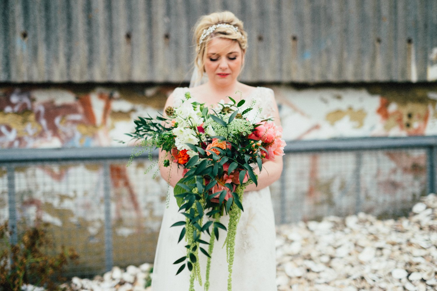 Bride holding A Vintage Wedding bouquet