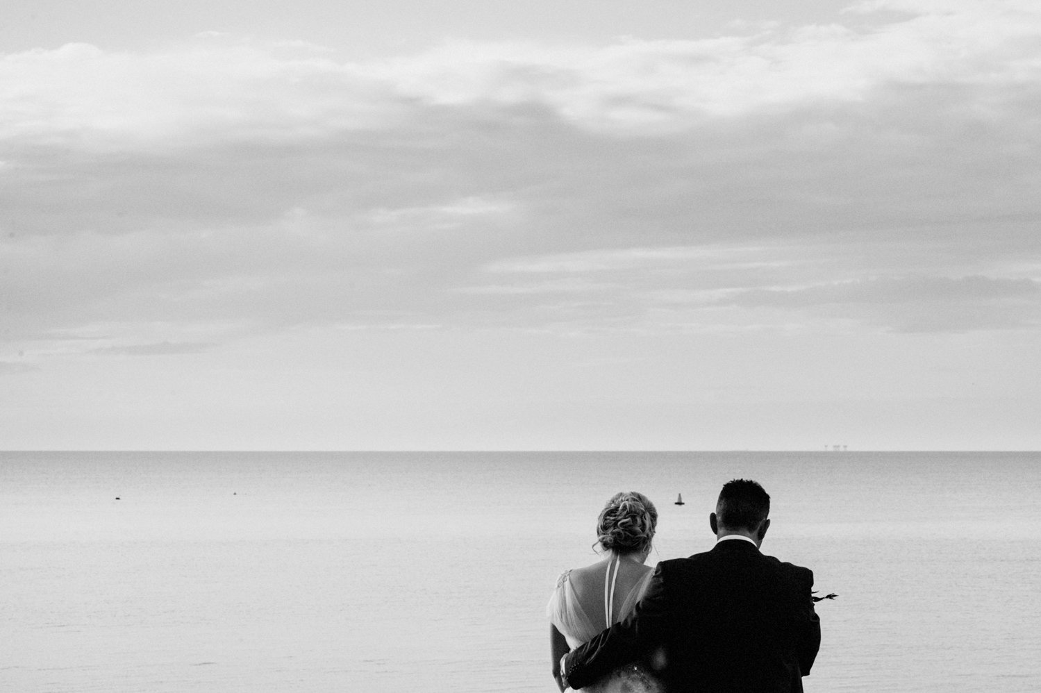 Seaside wedding photography BABB