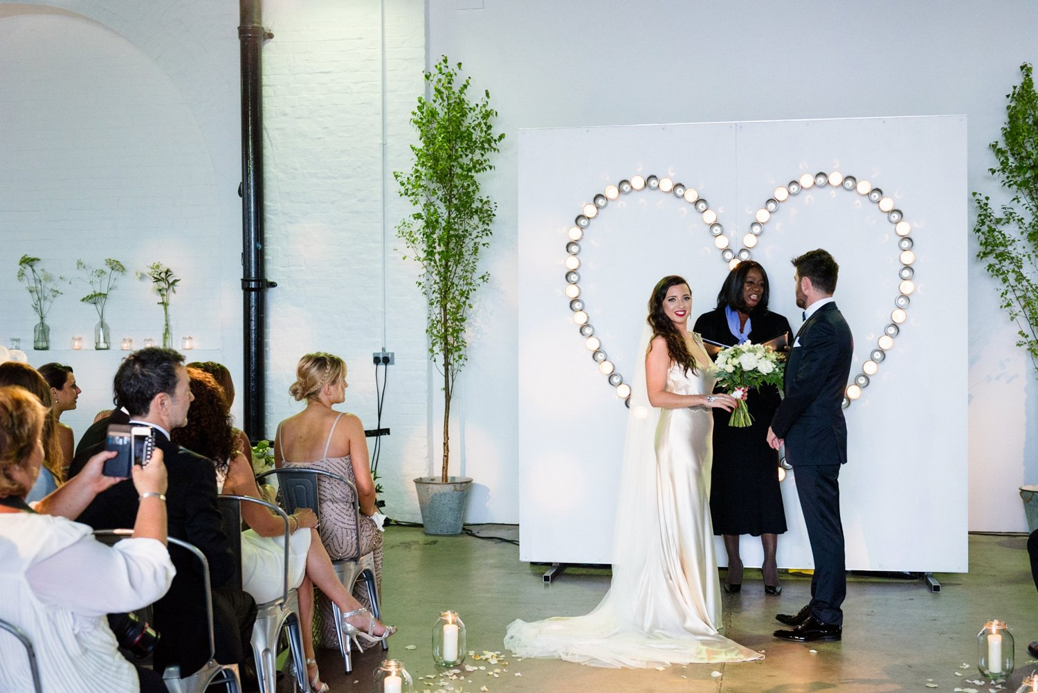 Chic industrial wedding London