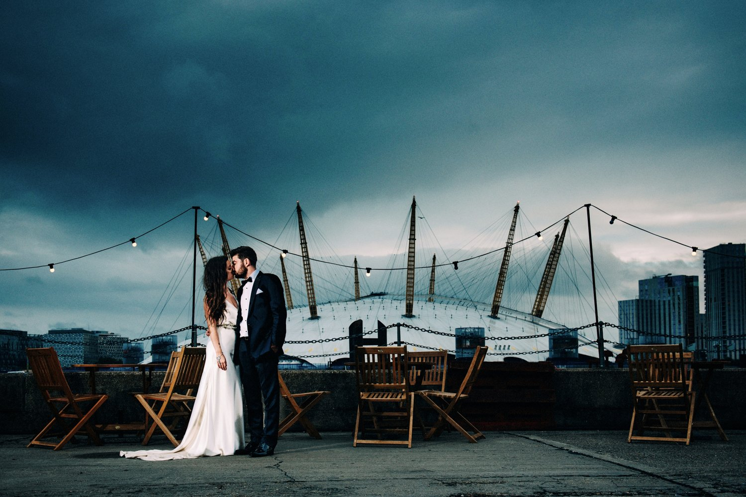 Glam London Warehouse Wedding-69