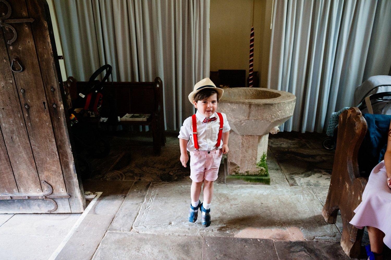Cute boy dancing Herefordshire wedding
