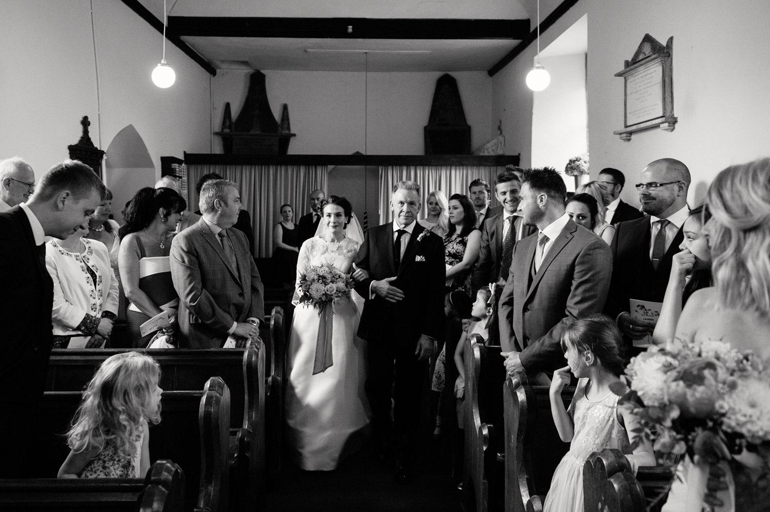 Bride with Father walk the aisle BABB