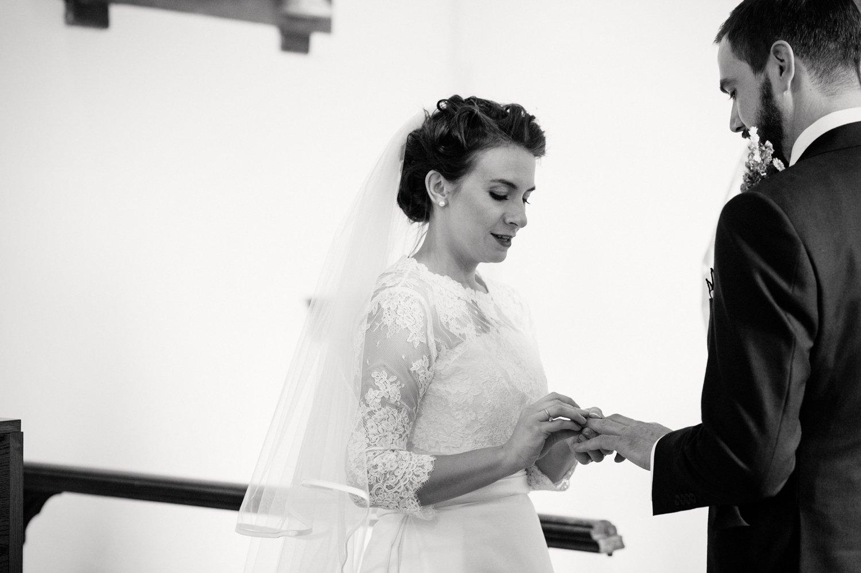 Bride & Groom exchange rings BABB Photo