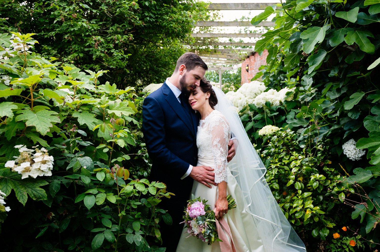 Romantic wedding portrait Herefordshire