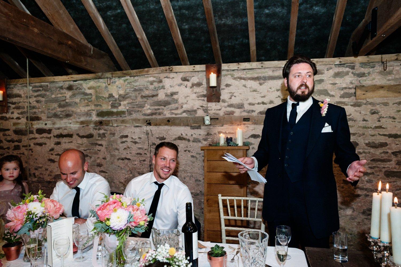 Dewsall Court Wedding speeches BABB