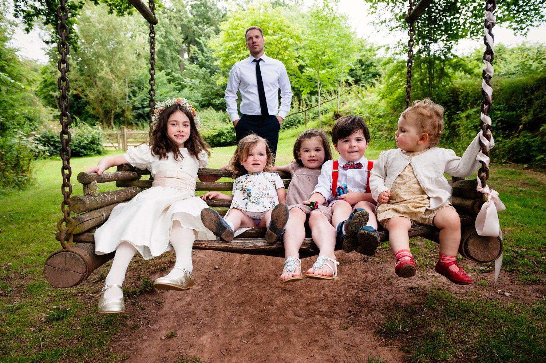 Children have fun Herefordshire wedding