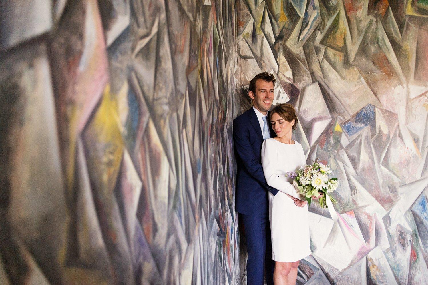 Alternative wedding portrait Babb photo