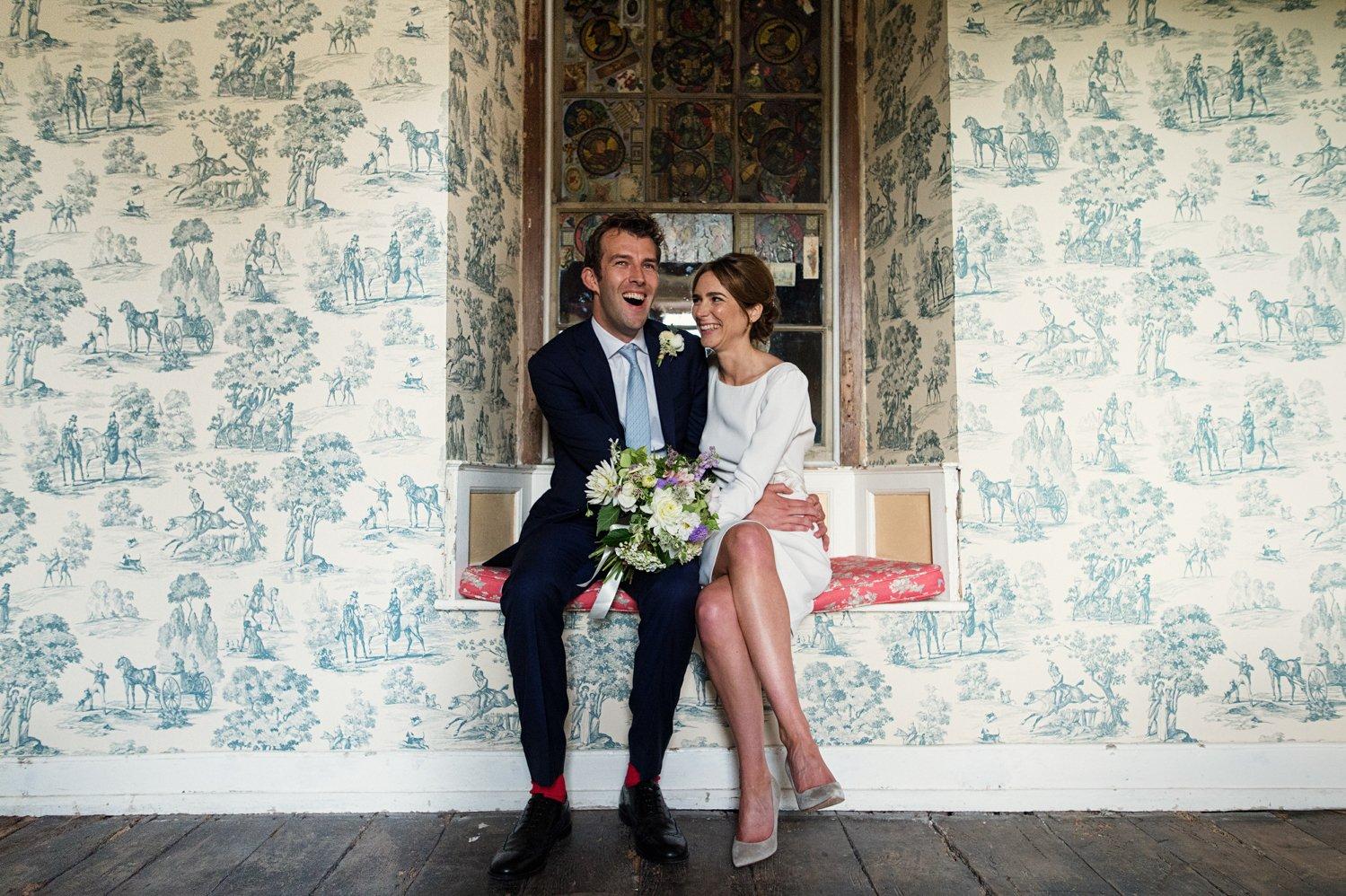 Fun wedding portrait Hauser Wirth Babb Photo