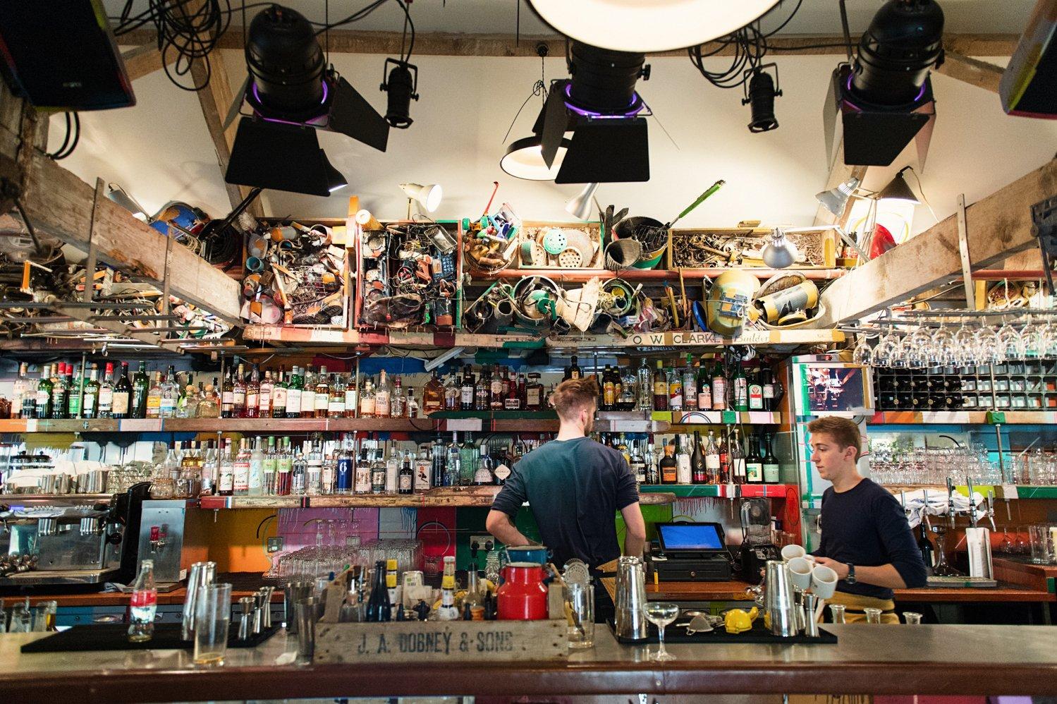 The drinks bar Hauser & Wirth wedding venue Somerset