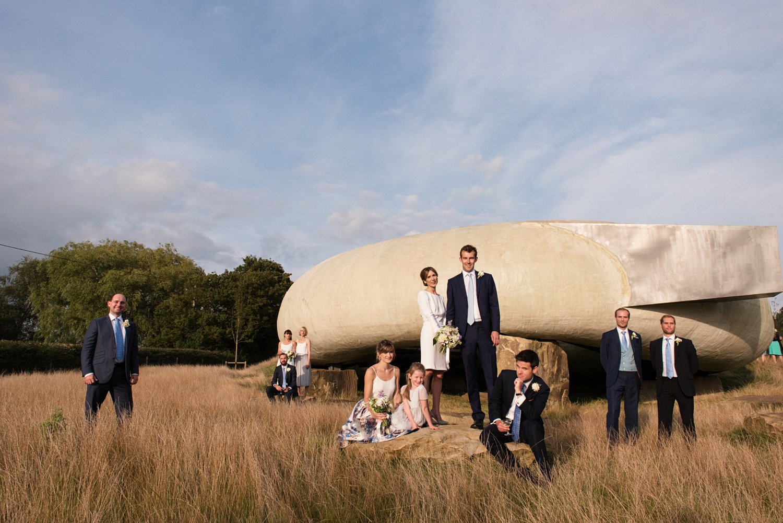 Creative group wedding photography Babb Photo