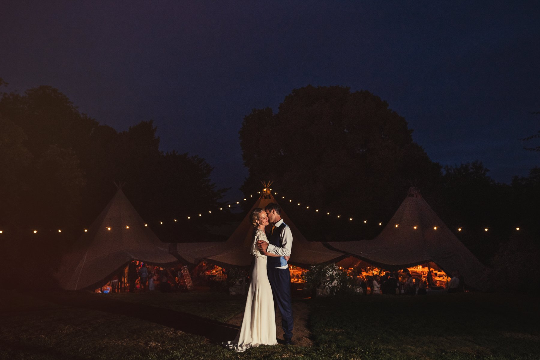 Wiltshire tipi wedding portrait Babb
