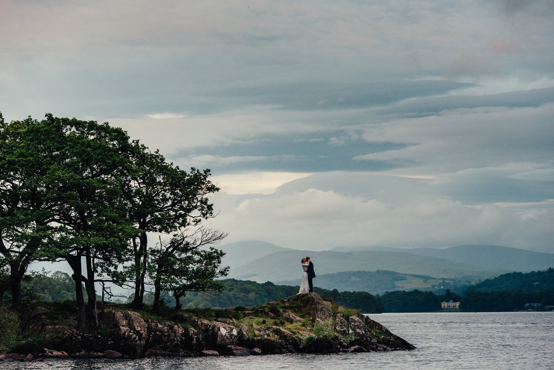 Lake Windermere Wedding Portrait Babb