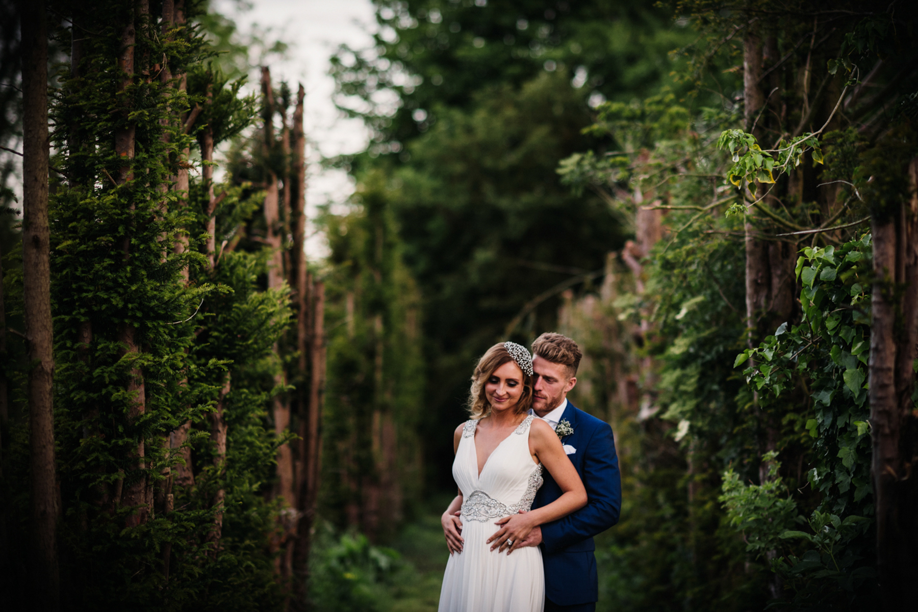 Woodhall Manor wedding portrait