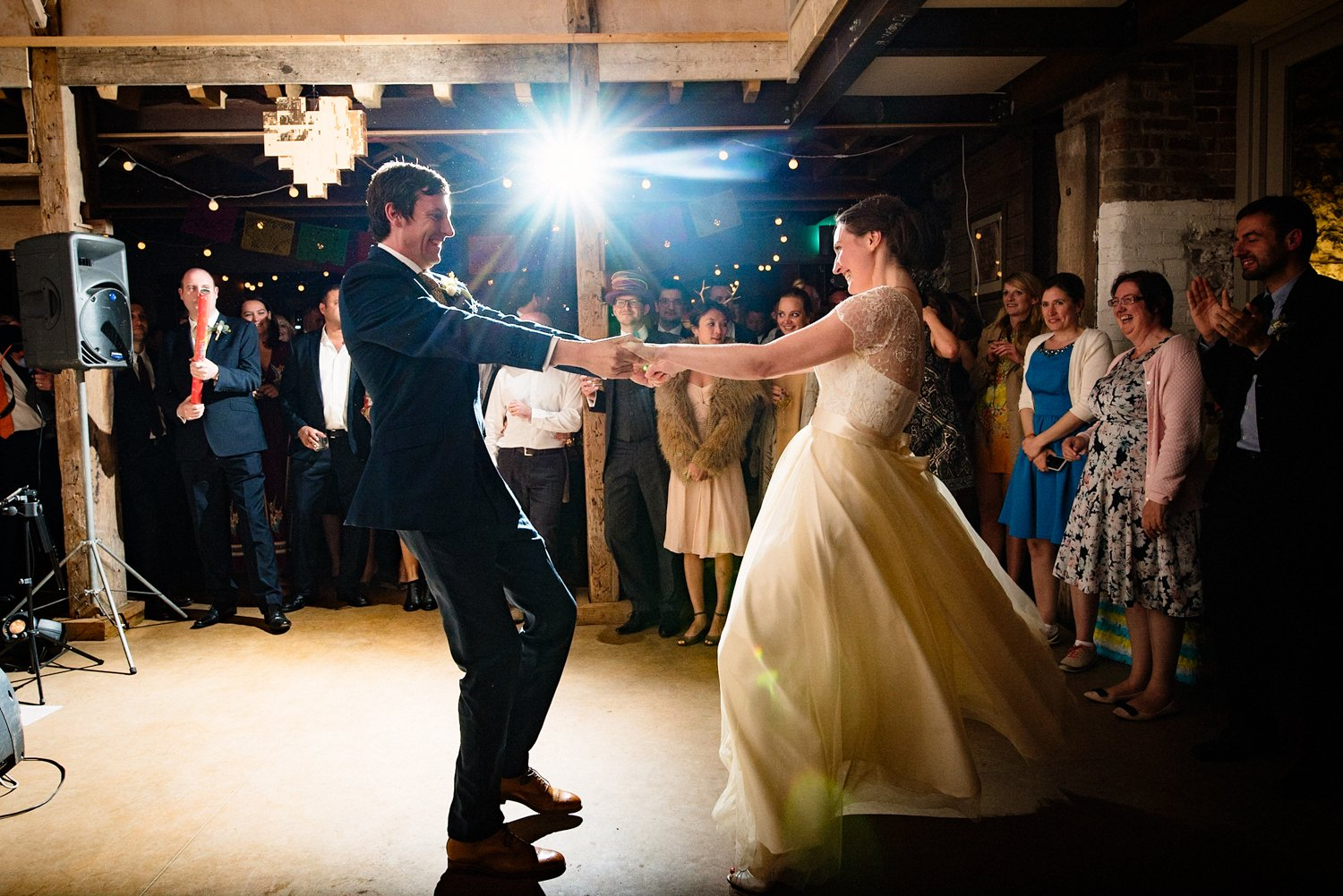 Bride and groom first dance West Lexham Norfolk