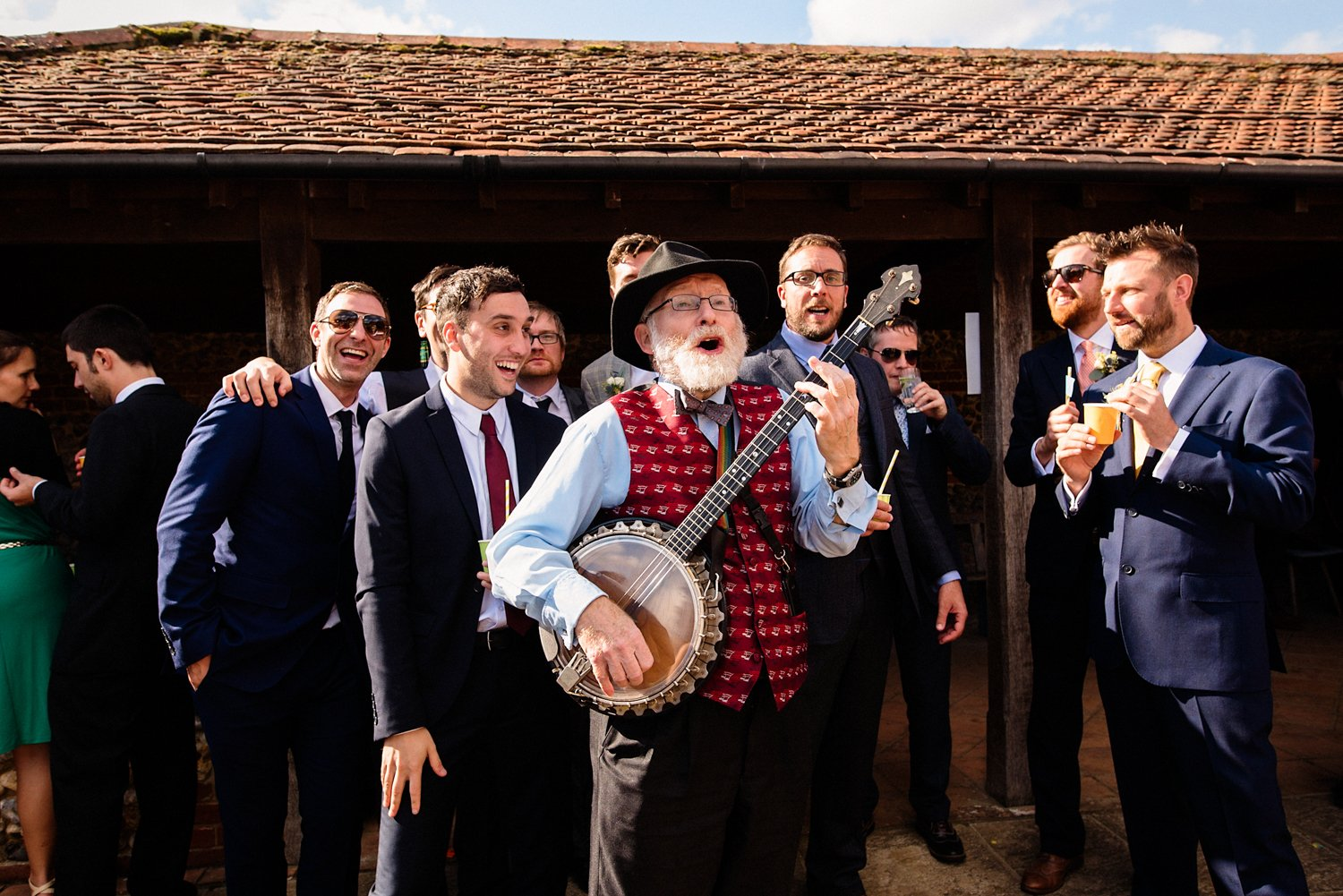 Doolally Tap band at West Lexham wedding
